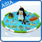 Penguin Shape Inflatable Water Park , Inflatable Water Park Slides Combo